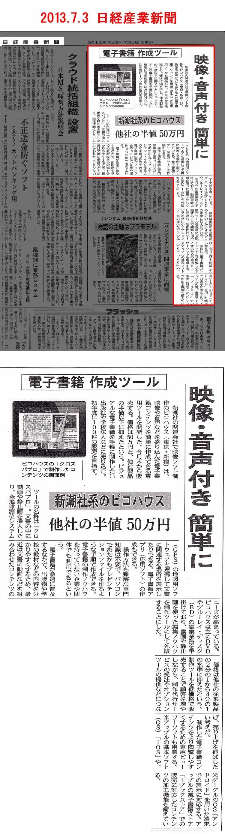 2013.7.3 日経産業新聞